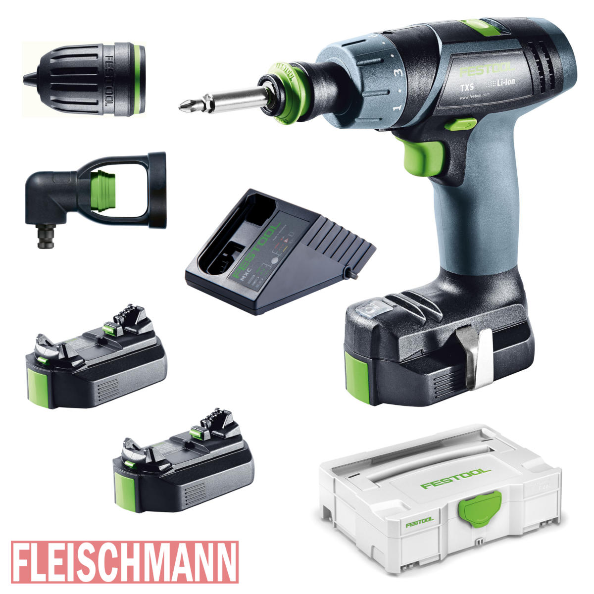 akku bohrschrauber txs li 2 6 set 564510 akkuschrauber festool fleischmann werkzeuge. Black Bedroom Furniture Sets. Home Design Ideas