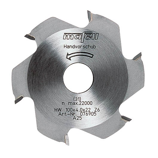 Scheibenfräser 100x22 mm Z 6 hartmetallbestückt, 076905
