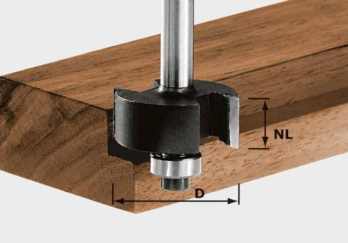 Falzfräser HW Schaft 8 mm HW S8 D31,7/NL 12,7, 491022