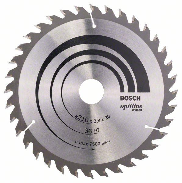 Kreissägeblatt Optiline Wood für Handkreissägen, 210 x 30 x 2,8 mm, 36