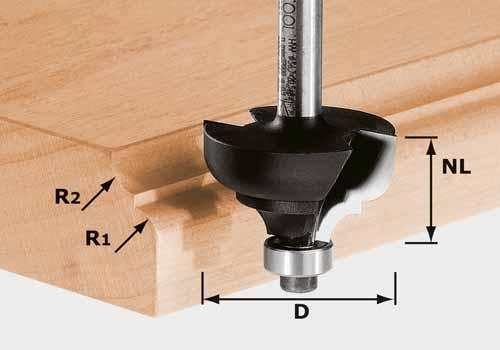 Multiprofilfräser HW Schaft 8 mm HW S8 D36,7/R6/R6, 491031