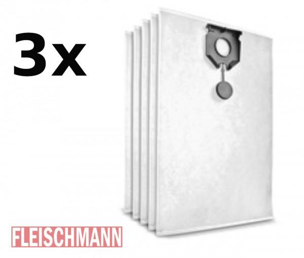 3er Pack Vliesfiltertüten Original für NT 30/1 (3 x 5 Stück), 2.889-154.0