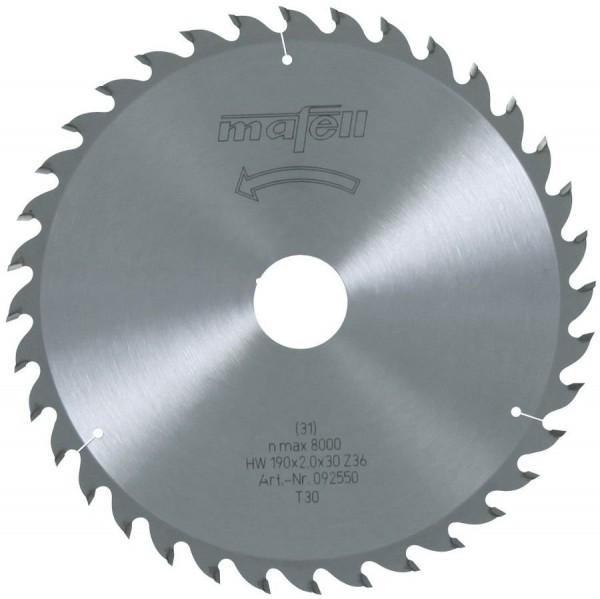 Sägeblatt-HM190x2,0x30 mm Z 36, 092550
