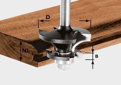 Konterprofilfräser HW Schaft 8 mm HW S8 D43/21 A/KL, 491129#