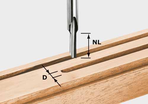 Nutfräser HS Schaft 8 mm HS S8 D 4/15, 490942+