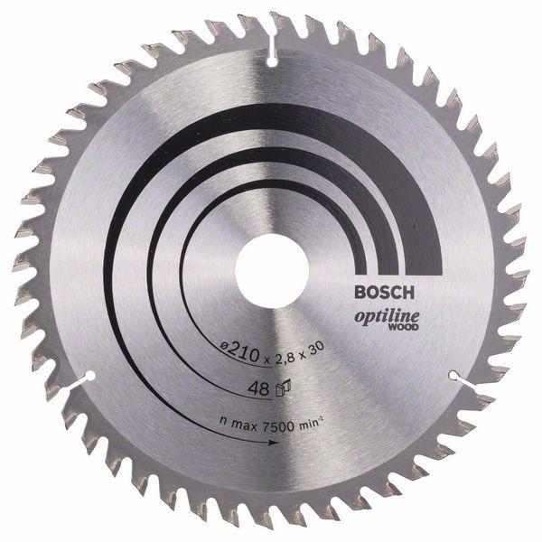 Kreissägeblatt Optiline Wood für Handkreissägen, 210 x 30 x 2,8 mm, 48