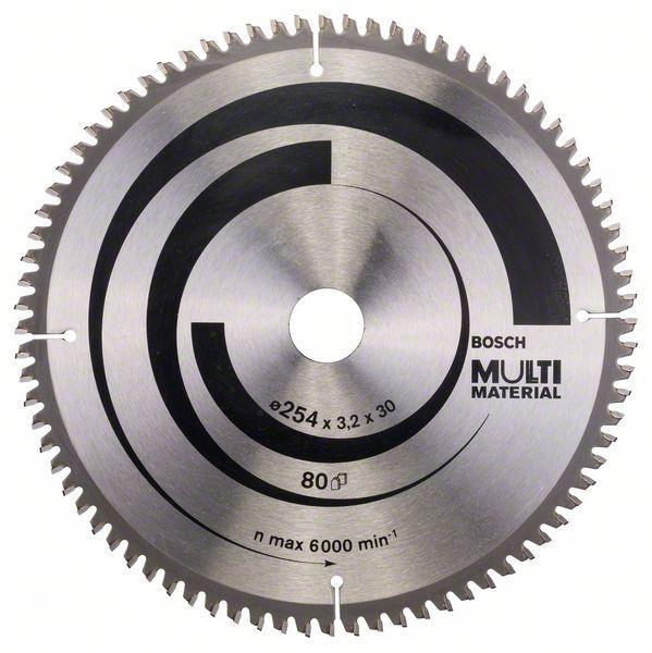Kreissägeblatt Multi Material, 254 x 30 x 3,2 mm, 80