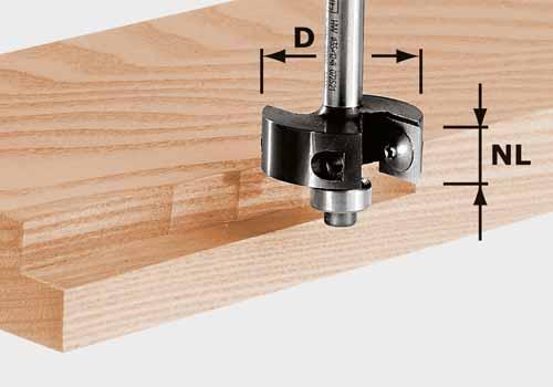 Wendeplatten-Falzfräser HW Schaft 8 mm HW S8 D38/12, 491085