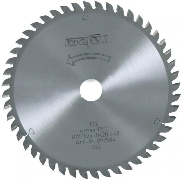Sägeblatt HM 162x1,8x20 mm Z 48, 092584