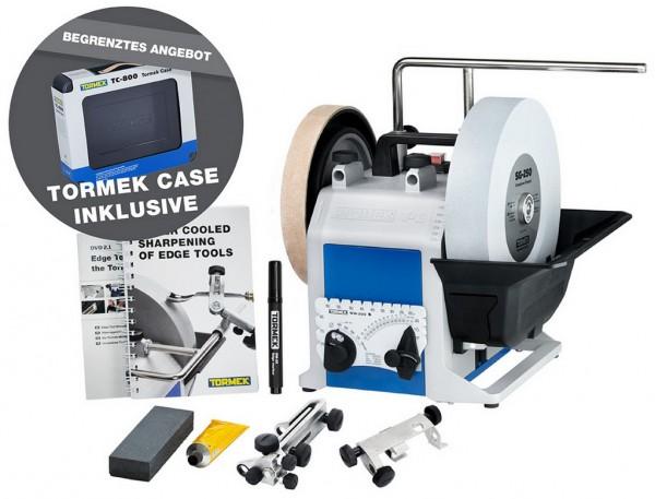 Tormek T-8 Orginal Nassschleifmaschine + Kunstoffbox TC-800 leer, 91398