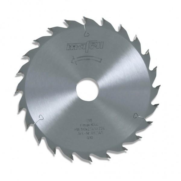 Sägeblatt-HM, 190 x 1,8/2,5 x 30 mm, Z 24, WZ, 092541