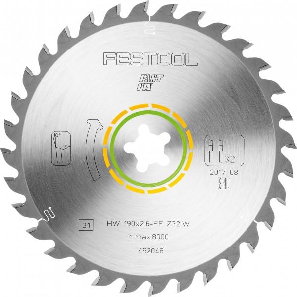 Universal-Sägeblatt 190x2,6 FF W32, 492048