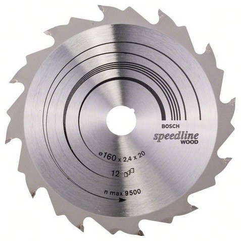 Kreissägeblatt Speedline Wood, 160 x 20 x 2,4 mm, 12