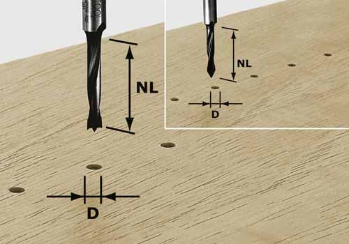 Dübelbohrer HW Schaft 8 mm HW S8 D5/30 Z, 491066#