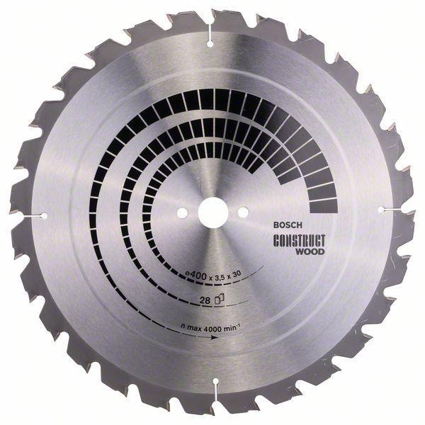 Kreissägeblatt Construct Wood, 400 x 30 x 3,5 mm, 28