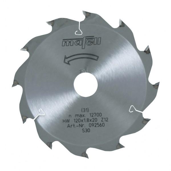 Sägeblatt-HM 120x1,2/1,8x20 mm Z 12 WZ, 092560