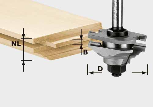 Profil-Federfräser HW Schaft 8 mm HW S8 D46 x D12-FD, 490643