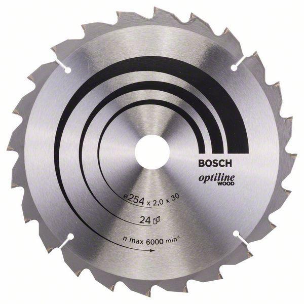 Kreissägeblatt Optiline Wood für Kapp- und Gehrungssägen, 254 x 30 x 2,0 mm, 24