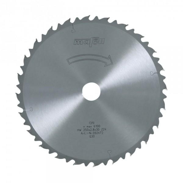 Sägeblatt-HM 250x1,8/2,8x30 mm Z 24, 092472