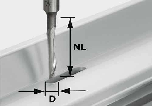 Aluminiumfräser HS Schaft 8 mm HS S8 D5/NL23, 491036