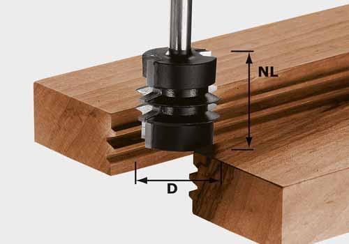 Verleimfräser HW Schaft 8 mm HW S8 D34/NL32, 491034
