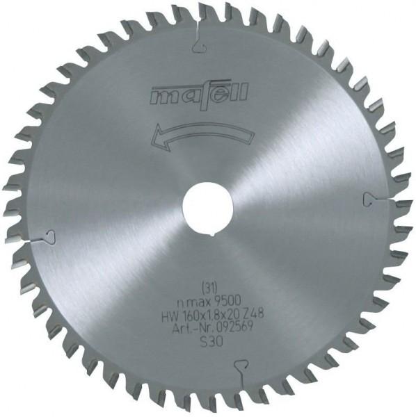 Sägeblatt-HM 160x1,2/1,8x20 mm Z 48 FZ/TZ, 092569