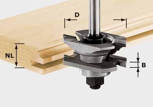 Profil-Nutfräser HW Schaft 8 mm HW S8 D46 x D12-NT, 490645