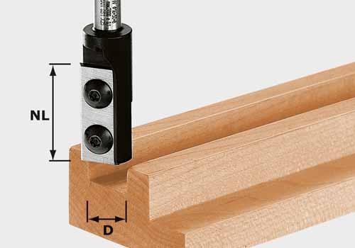 Wendeplatten-Nutfräser HW Schaft 8 mm HW S8 D12/30 WP Z1, 491080