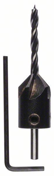 Holzspiralbohrer mit 90°-Senker, 4 mm