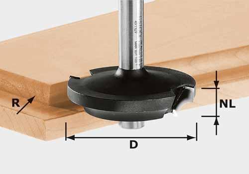 Abplattfräser HW Schaft 8 mm HW D42,7/13/R6, 491138