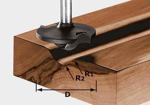 Profilfräser HW Schaft 8 mm HW S8 D42/13/R6+12, 491137#