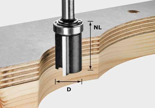 Bündigfräser HW Schaft 8 mm HW S8 D19/NL25, 491028