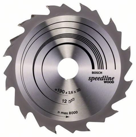 Kreissägeblatt Speedline Wood, 190 x 30 x 2,6 mm, 12