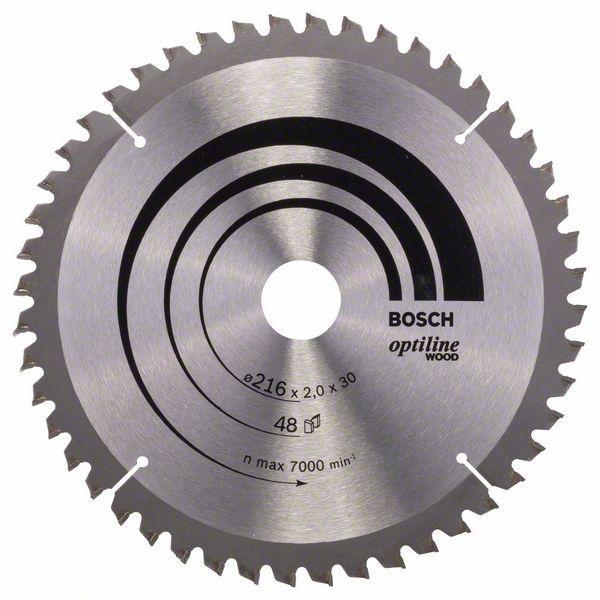 Kreissägeblatt Optiline Wood für Kapp- und Gehrungssägen, 216 x 30 x 2,0 mm, 48
