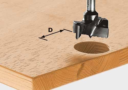 Beschlagbohrer HW Schaft 8 mm HW S8 D35, 491077