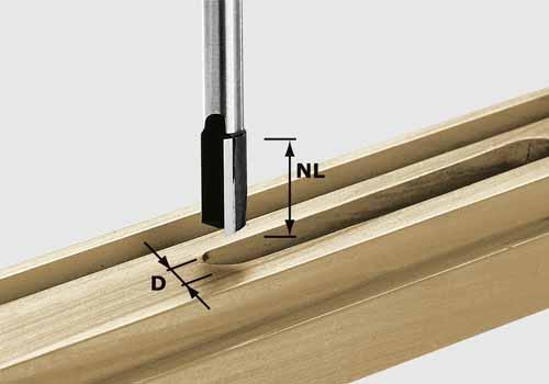 Nutfräser HW Schaft 8 mm HW S8 D12/20, 490962