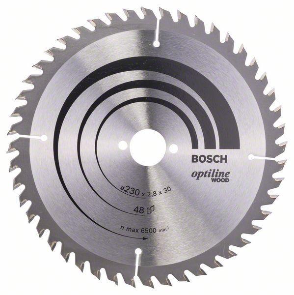 Kreissägeblatt Optiline Wood für Handkreissägen, 230 x 30 x 2,8 mm, 48 2 608 640 629