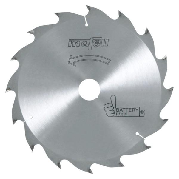 Sägeblatt-HM 185x1,2/1,8 x20mm Z 16 WZ battery ideal, 092494